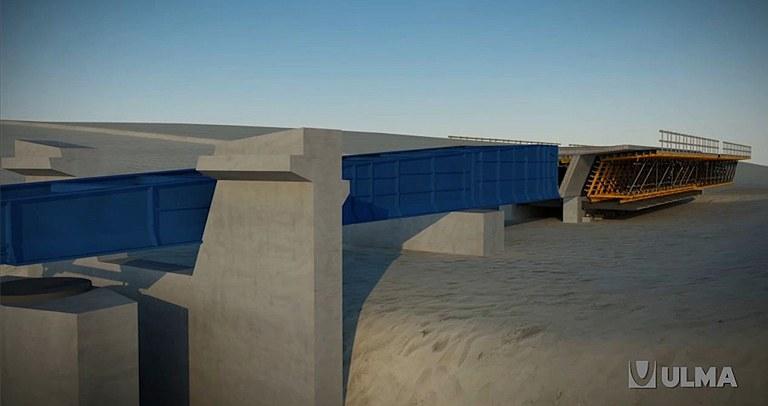 Puente empujado