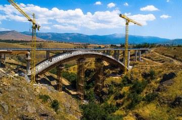 Puente en arco Eresma, Segovia, España